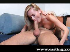 Lovely blonde student enjoys anal creampie tube porn video