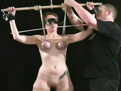 Tits tied for the young BDSM slut tube porn video