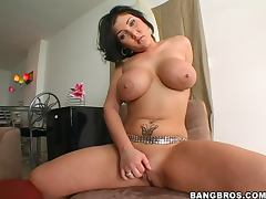 Claire Dames sucks a dick and gets fucked in reverse cowgirl and other positions tube porn video