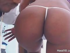 Passionate black MILF getting a big fat cock in her both pink holes tube porn video