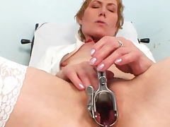 Medical perversion from a mature nurse Mila tube porn video