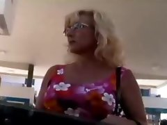 Dirty Old Blonde MILF tube porn video