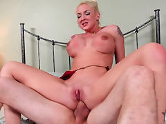 Sexy hottie Leya Falcon being drilled in mouth by Jordan Ash tube porn video