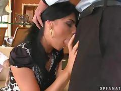 Fancy Double Penetration Fuck for Beautiful Brunette Slut Sorana tube porn video
