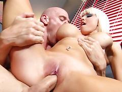 Johnny Sins is getting blowjob for a slutty blonde Rikki Six tube porn video