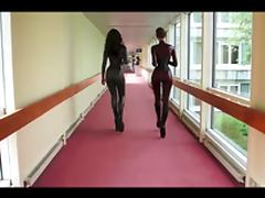 Ballet Heels and Latex Cutie tube porn video