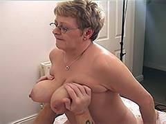 Blonde Russian Mature VS Younger Guy 5 tube porn video