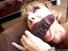 Nina Hartley the slim blonde MILF loves big black cocks tube porn video