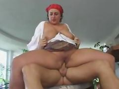 Chubby German babe gets fucked before getting a mouthful tube porn video