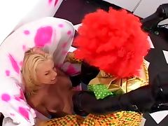 Clown fucks blonde ass tube porn video