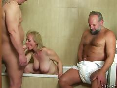 Slutty Monik gets fucked by an old and fat guys tube porn video