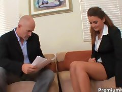 Allie Haze provides full boss service tube porn video