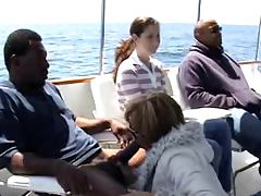 great interracial on a boat tube porn video