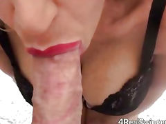 Red Lipstick No Hands Blowjob tube porn video