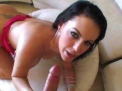 Brunette Jenna Presley is licking balls tube porn video