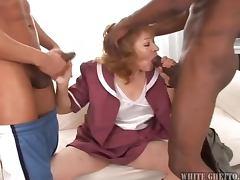 Grandma Gets Gangbanged and Creampie tube porn video