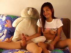 Thai beauty's first porno session tube porn video