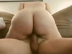 Amateur wife in slow and sensual riding tube porn video