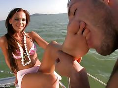 Christina and Evan sailing off to heaven tube porn video