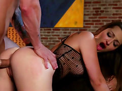 Dani Daniels rides on dick and gets cum in mouth tube porn video