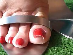 Metal heels tube porn video