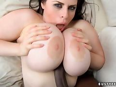 Daphne Rosen the brunette with massive boobs with Black guy tube porn video