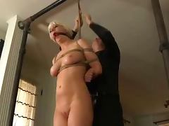 Naughty blond Cherry is about to cry from pain tube porn video