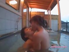 2 Asian Girls Kissing Fingering Pussies In The Pool On The Hotel Balcony tube porn video