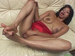 Ebony Girl Footjob 14 tube porn video