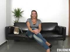 Laura seduces a stranger and fucks him in cowgirl position tube porn video