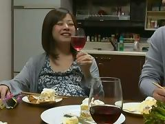 Riri Kohda the Japanesу housewife gets fucked after the dinner tube porn video
