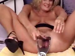 Bizarre Samantha dildo insertion pussy play 2 tube porn video