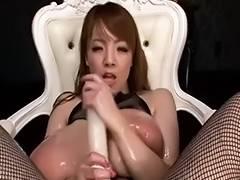 Hitomi Tanaka Oiled Up Scene three tube porn video