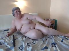 chubby granny and her big black dildo tube porn video