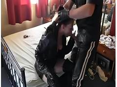 Smokin' Leather BJ tube porn video