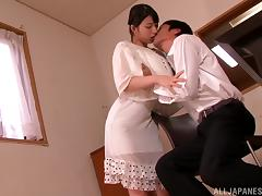 Nice Ai Uehara gets her vagina licked and then drilled tube porn video