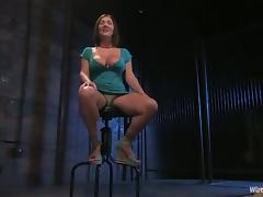 Lorelei Lee is dominating over Claire Dames in the BDSM tube porn video