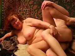 Granny with plump flabby body and guy tube porn video