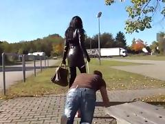 High heels worship tube porn video