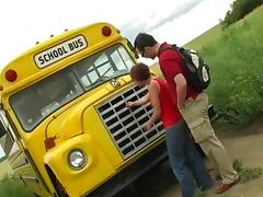 School Bus tube porn video