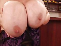 Chubby MILF with massive mammaries tube porn video