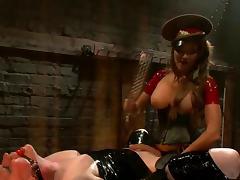 Femdom examination tube porn video