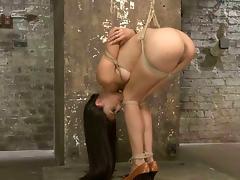 slim brunette tied 3 tube porn video