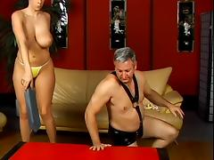 Horny dude gets spanked by hot mistress Gianna Michaels tube porn video