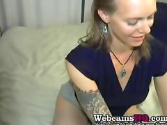 Horniest Amateur Mature BBW squirting a lot on Webcam tube porn video