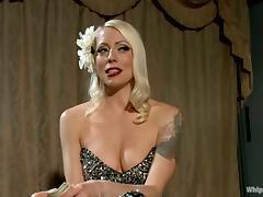 Dominatrix Blonde Fucking Lorelei Lee in Lesbian Femdom with Bondage Action tube porn video