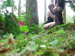 Russian blowjob in the woods tube porn video