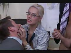 Classic Bisex Threesome at Office tube porn video