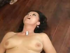 Granny Jumps On a Black Rod tube porn video