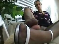 Nylon FootJob (420) tube porn video
